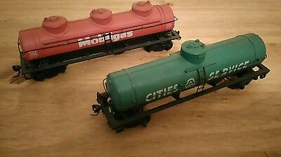 2 x Bachmann HO scale  mobile gas articulated tanker
