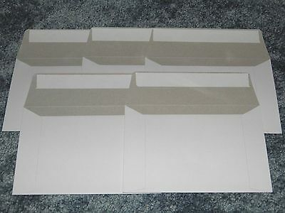 "Five 6 1/2"" x 4 1/2"" Rigid Mailers for Postcard or Photo Cardboard Envelope Seal"