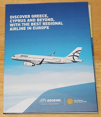 Aegean Airlines (Greece) Airline Brochure