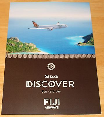 Fiji Airways Airbus A330 Airline Leaflet