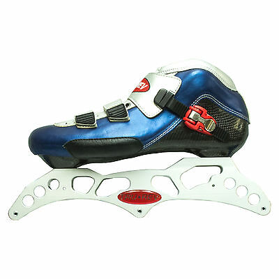 """3-125mm aluminum inline skate frame. 12.75"""". 165mm or 195mm mount with boot."""