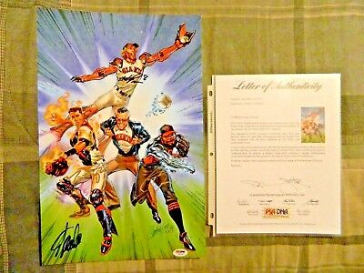 San Francisco Giants 2015 Superheroes and Comics Night Signed Print Buster Posey