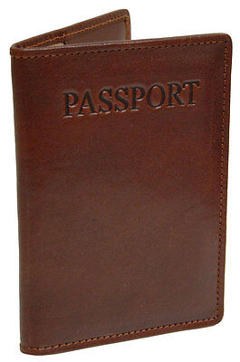 Passage 2 Collection Italian Leather Passport Cover Wallet - Castagna