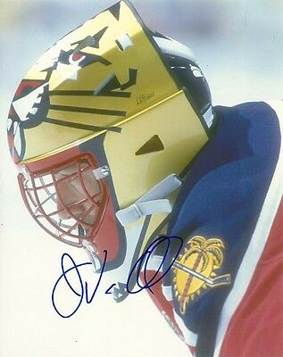 JOHN VANBIESBROUCK SIGNED FLORIDA PANTHERS GOALIE 8x10 PHOTO! Autograph