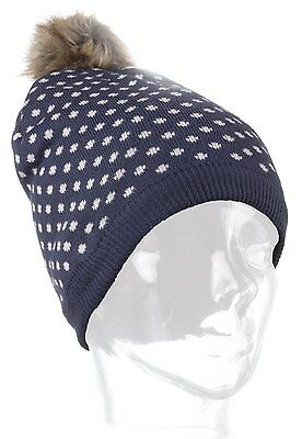 KitSound Audio Beanie Hat Built In Headphones fits Smartphones Knitted Blue