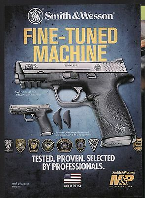 2011 SMITH & WESSON Advertising M&P Military Police Pistol Collectible Print AD