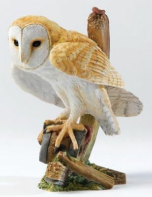 Country Artists Barn Owl On Cartwheel Ca00239 New And Boxed