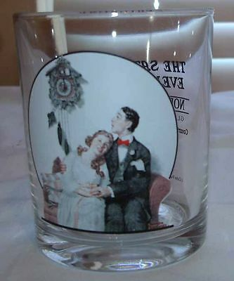 The Saturday Evening Post Norman Rockwell Glass Tumbler