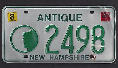 New Hampshire Old Man Profile Antique License Plate 2498