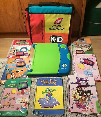 Leapfrog Leappad Learning System Book Reading 6 Games & Carry Bag Bundle Xmas