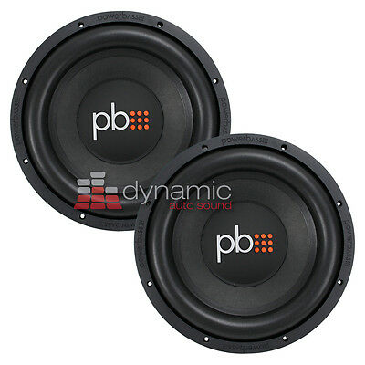 "(2) PowerBass S-1204D Car Audio 12"" DVC 4-Ohm Subwoofers 1,200 Watts Subs New"