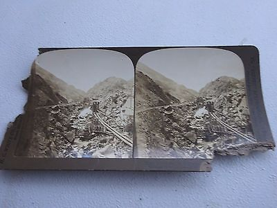 1903 White Stereoview, End of the Southern Colorado Railroad