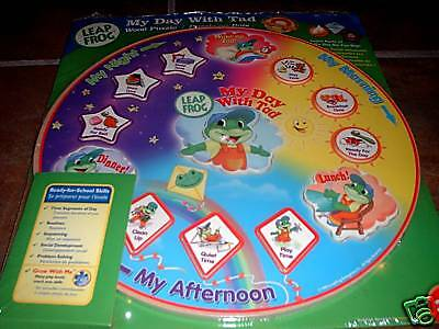 Nip,leap Frog Wooden/magnetic Puzzle 'my Day With Tad'