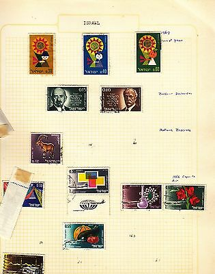 ISRAEL  on album page stamps removed for shipping(g)