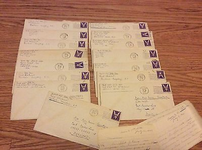 14 WWII letters In French 1944 Jean Della French Detachment various U.S. bases