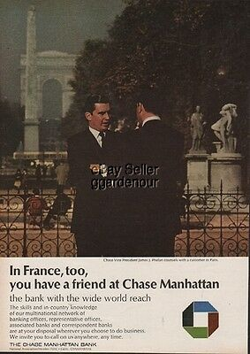 Chase Manhattan Bank Ad - In France, Too Paris 1968 Photo Print Ad