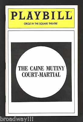 """Michael Moriarty """"CAINE MUTINY COURT MARTIAL"""" William Atherton 1983 Playbill"""
