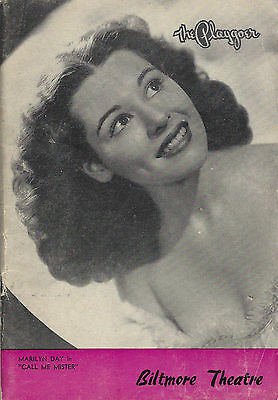 """Marilyn Day """"CALL ME MISTER"""" Bob Fosse / Carl Reiner 1947 Los Angeles Playbill"""