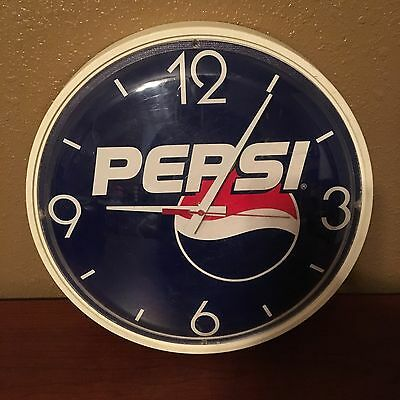 """13.5"""" Pepsi Wall Clock Works Battery Operated"""