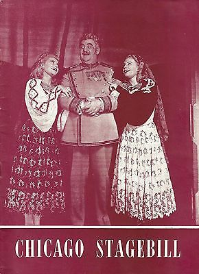 """Billy Gilbert """"CHOCOLATE SOLDIER"""" Keith Andes / Doretta Morrow 1947 Playbill"""
