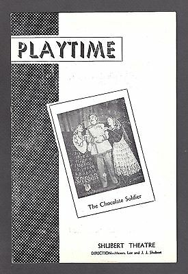 """Billy Gilbert """"CHOCOLATE SOLDIER"""" Keith Andes / Doretta Morrow 1948 Playbill"""