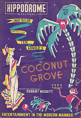 """Julie Andrews in """"COCONUT GROVE"""" at 13 years old 1949 Blackpool, England Program"""