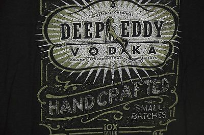 DEEP EDDY VODKA  Men's LARGE Austin's Original ~ PROMO T Shirt  Hot Chick Logo