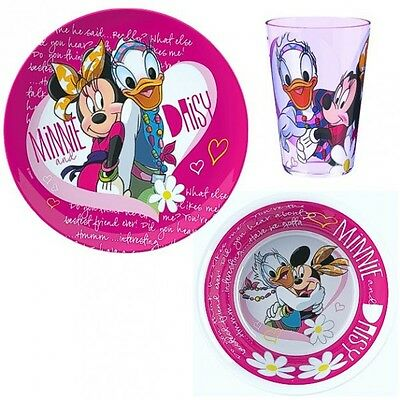 Minnie Mouse - Set Breakfast Melamine Dishes Mouse & Daisy (3-pieces