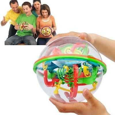 3D Spherical Maze Magical Intellect Ball Balance Logic Training Puzzle Toy Gifts