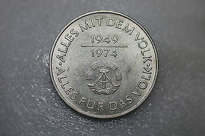 Germany Ddr 10 Mark 1974 Nice Details A57 #z6045