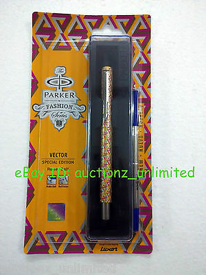 Parker Vector Special Edition CT Roller BallPen Camouflage Yellow New Blue ink