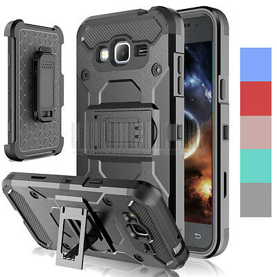 Hybrid Rugged Tough Armor Shockproof Holster Case Stand Rubber Cover Belt Clip