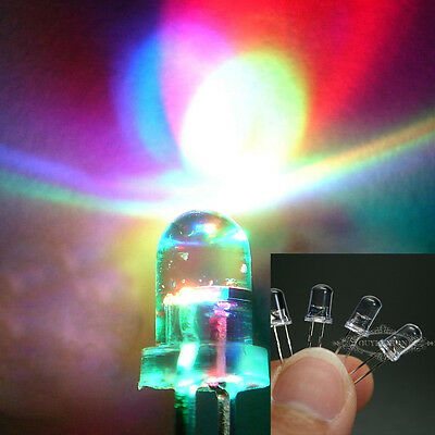 New 100-1000pc 3/5mm WHITE GREEN BLUE RGB ULTRA BRIGHT LED LIGHT EMITTING DIODE