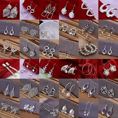 FASHION JEWELRY SOLID Silver WOMEN 925STERLING SILVER EARRING GIFT XMAS