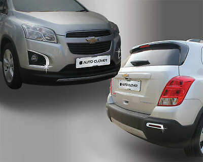 For Chevrolet Trax 2012 - 2016 Chrome Front and Rear Fog Light Trim Set