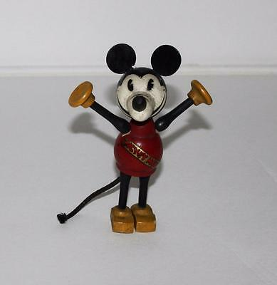 """DISNEY1930's""""LONG NOSE"""" MICKEY MOUSE 4 3/4"""" TALL""""WOOD JOINTED""""BALANCING FIGURINE"""