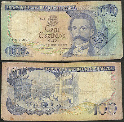 PORTUGAL - 100 escudos 1978 P# 169b Europe banknote - Edelweiss Coins