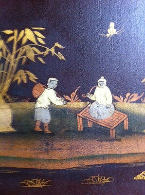 Antique chinoiserie hand painted wall panels.