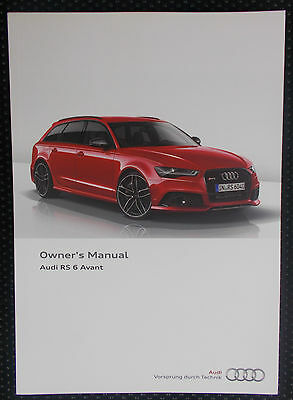 Genuine Audi Rs6 Avant C7 Owners Manual Handbook – 12/2014 Edition