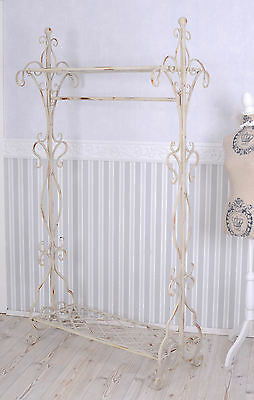 Coat Stand Country House Style White Clothing Stand Wardrobe Antique Style
