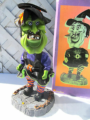"17"" Gemmy 2002 Singing ""I Want Candy"" Big Head Witch Halloween No Dancing AS IS"