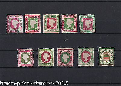 heligoland collection  mint stamps , mounted mint . ref r292