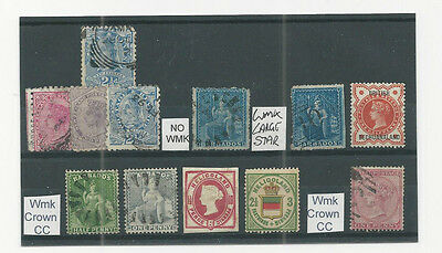 queen victoria commonwealth classic  stamps on stock card 9