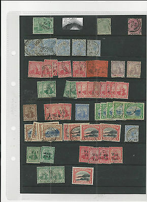 Trade Price Stamps Trinidad And Tobago Mint And Used On Stock Sheet