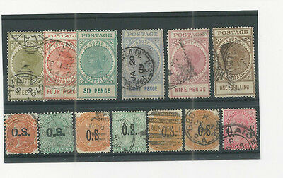 queen victoria commonwealth classic australia   stamps on stock card 10