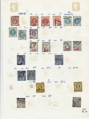 Queen Victoria Stamps On Old Album Page  7