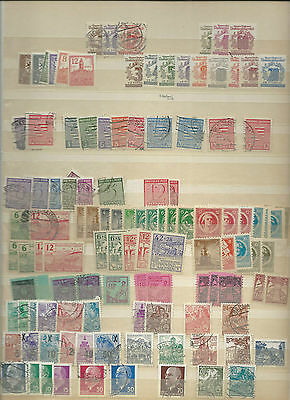 Trade Price Stamps Page 13 Of  Old  German Album Early To Modern Mint/used
