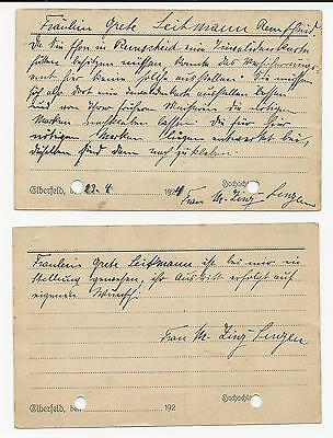 Trade Price Stamps Germany Invalidenvers On Cover Pen Cancelled 1924