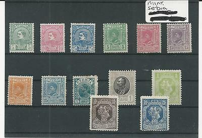Trade Price Stamps Early Unused Serbia On Stockcard