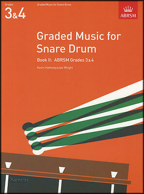 Graded Music for Snare Drum Book 2 ABRSM Grades 3-4 Exam Sheet Music Book